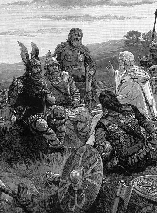 El obispo Ulfilas jugó un papel decisivo en la conversión de los godos al cristianismo. (Dominio público)