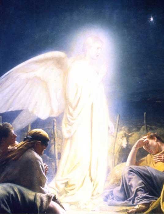 """¿Quiénes eran los Brillantes? """"Los pastores y el ángel"""" (1879) de Carl Bloch. (dominio público)"""