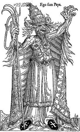 Caricatura del Papa Alejandro VI. (Dominio público)