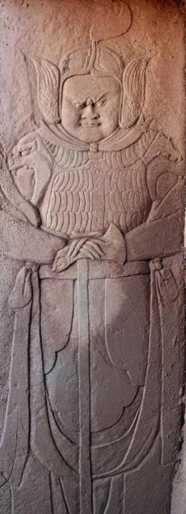 Uno de los grabados de las paredes de la tumba, en la ciudad de Baisha, Chongqin, China (China News Service/Zhong Xin)
