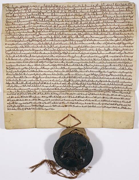 La Carta del Bosque, 1217, en poder de la Biblioteca Británica. (Dominio público)