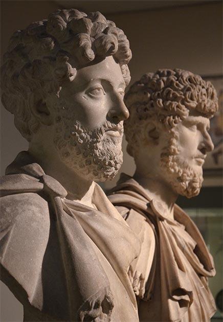 Co-emperadores Marco Aurelio y Lucio Vero, Museo Británico. (Carole Raddato / CC BY-SA 2.0)