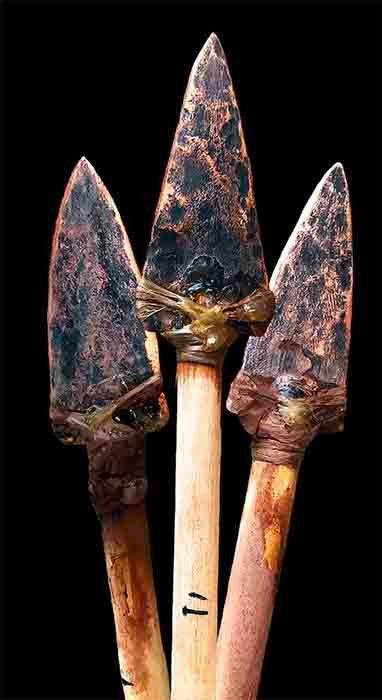 Proyectiles con punta de cobre fabricados por la antigua cultura del cobre de la región de los Grandes Lagos, América del Norte. (Michelle Bebber / Laboratorio Eren de la Universidad Estatal de Kent)