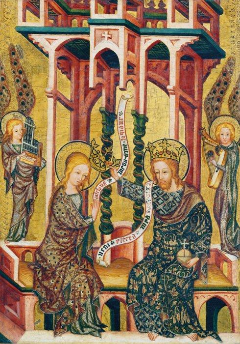 San Aethelthryth de Ely de la Bendición de San Æthelwold representado en un manuscrito iluminado en la Biblioteca Británica. (monje / dominio público)