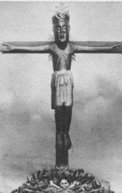 Crucifijo del Cristo de las Batallas antes de la restauración (Fundación Joaquín Díaz / CC BY-SA 3.0)