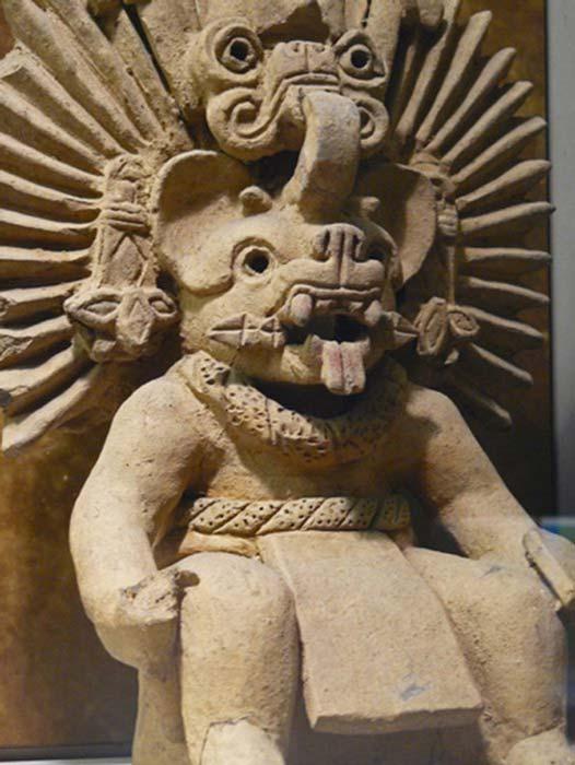 Dios murciélago del período zapoteco IIIA. (Mary Harrsch/ CC BY NC SA 2.0 )