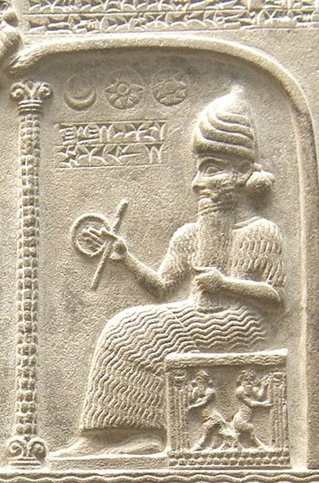 El dios Utu de la Tableta de Shamash (CC by SA 1.0)