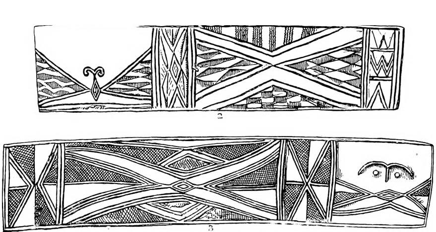 Museo Británico: dibujos de las decoraciones de uno de los tambores (Wikimedia Commons)