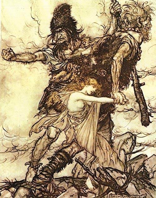 En Eclesiástico afirma que los gigantes fueron deshechos por la violencia. (Haukurth / Dominio público)