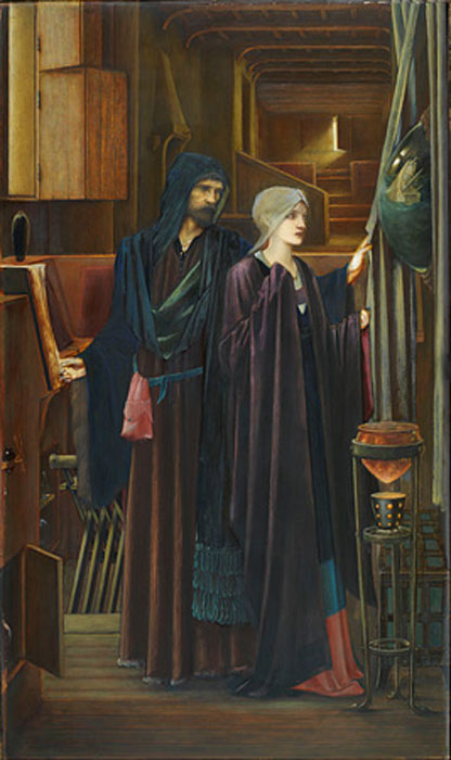 """El mago"" (1896/1898) de Edward Burne-Jones. (Dominio Público)"