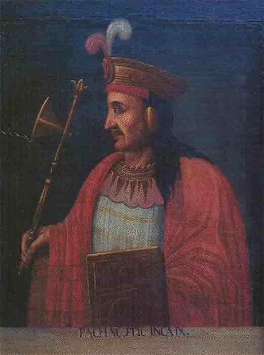 """El emperador Pachacuti, el noveno Inca Sapa, que hizo el Imperio Inca con sus """"propias manos"""". (Escuela Cuzco / Dominio público)"""