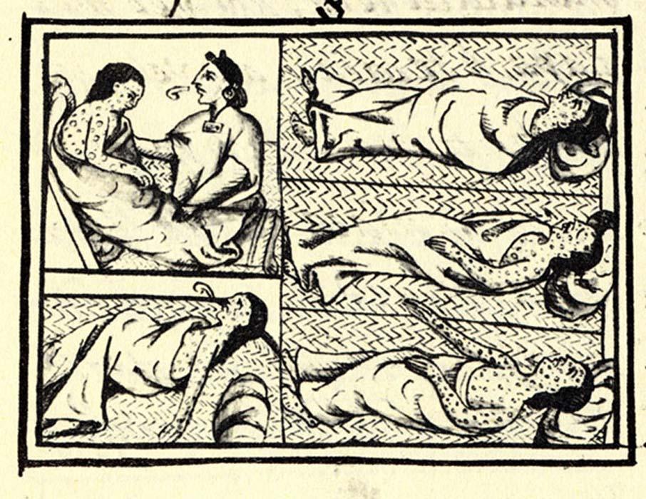 Indígenas víctimas de la enfermedad, Códice Florentino (compilado entre los años 1540 y 1585). (Public Domain)