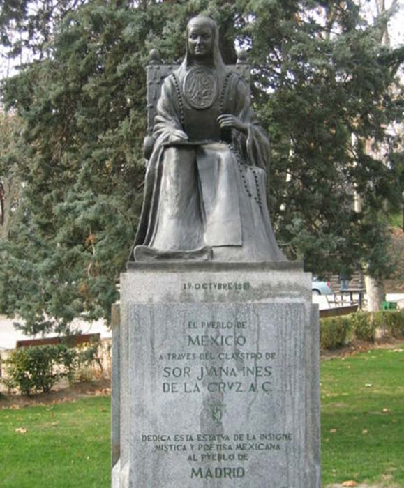 Estatua de Juana Inés en Madrid, España. (Sanbec / CC BY-SA 3.0)