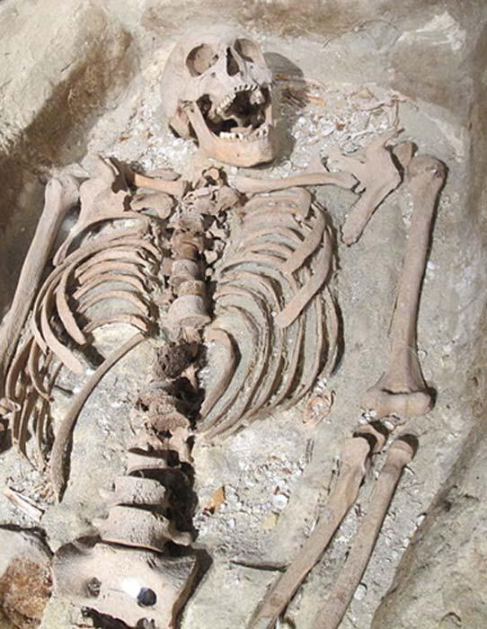 Ejemplo de tumba y esqueleto en un museo marítimo. (Marlene Oostryck / CC BY 3.0)