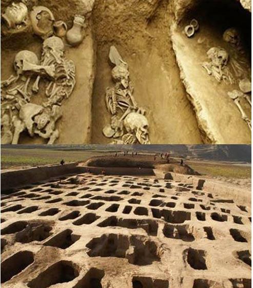 El Instituto Provincial Gansu de Reliquias Culturales y Arqueología y el Centro de Herencia y Estudios de Arqueología de la Universidad del Noroeste realizaron, conjuntamente, una excavación en el yacimiento de Mogou dentro de un área sumergida en la presa Jiudianxia, de julio a noviembre del año 2008. Encontraron objetos y restos a partir de los períodos medio y tardío Yangshao, pertenecientes a las culturas Majiayao, Qijia y Shiwa.