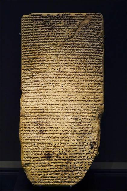Extracto de un tratado de astrología babilónico. Terracota, finales del primer milenio antes de Cristo. De Warka, antiguo Uruk. (Museo del Louvre / CC BY-SA 3.0)