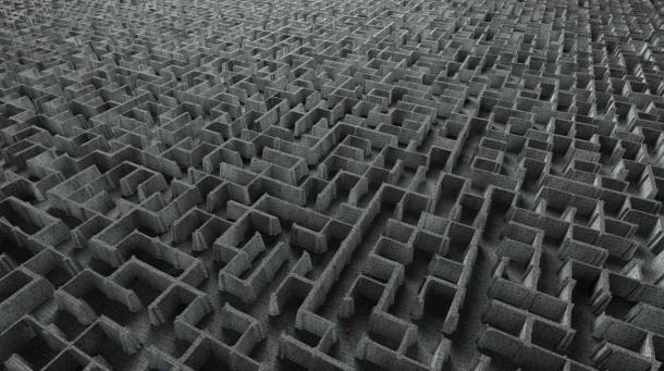 Laberinto extremadamente complejo (blirk.net)