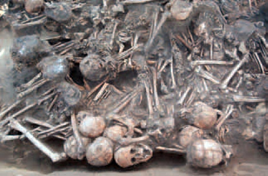 Hallan aproximadamente 100 restos óseos (algunos carbonizados) en las ruinas de una pequeña casa de 5000 años. Se cree que fueron víctimas de una peste.