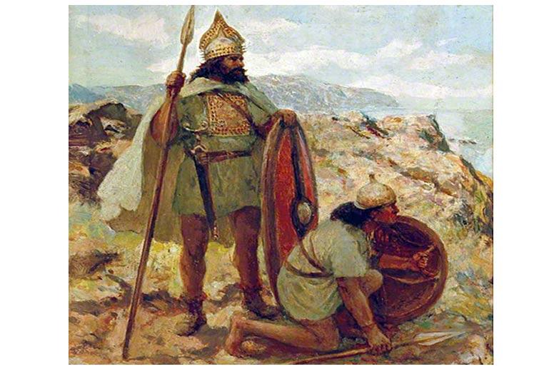 Guerreros de la Edad del Bronce haciendo guardia
