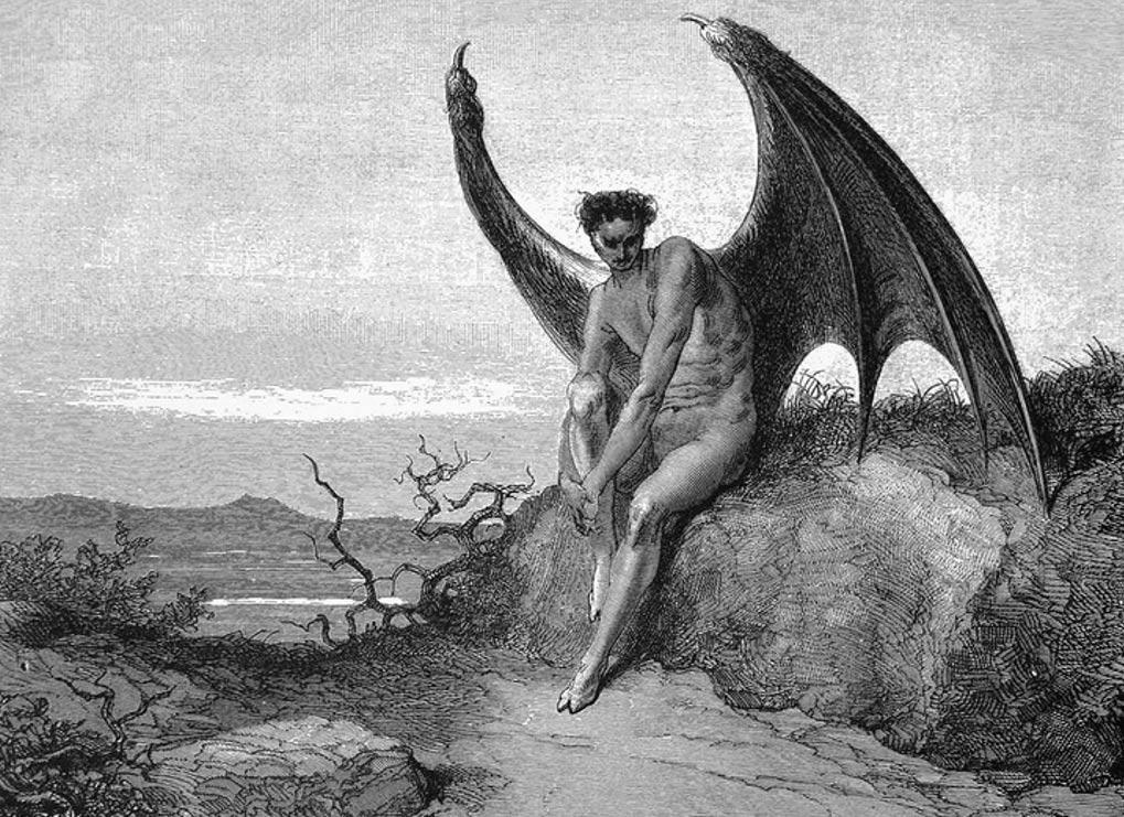 Portada: Ilustración de Gustave Doré para la obra Paraíso Perdido, libro IX, 179–187, el Diablo aparece dibujado con pezuñas hendidas (Wikimedia Commons)