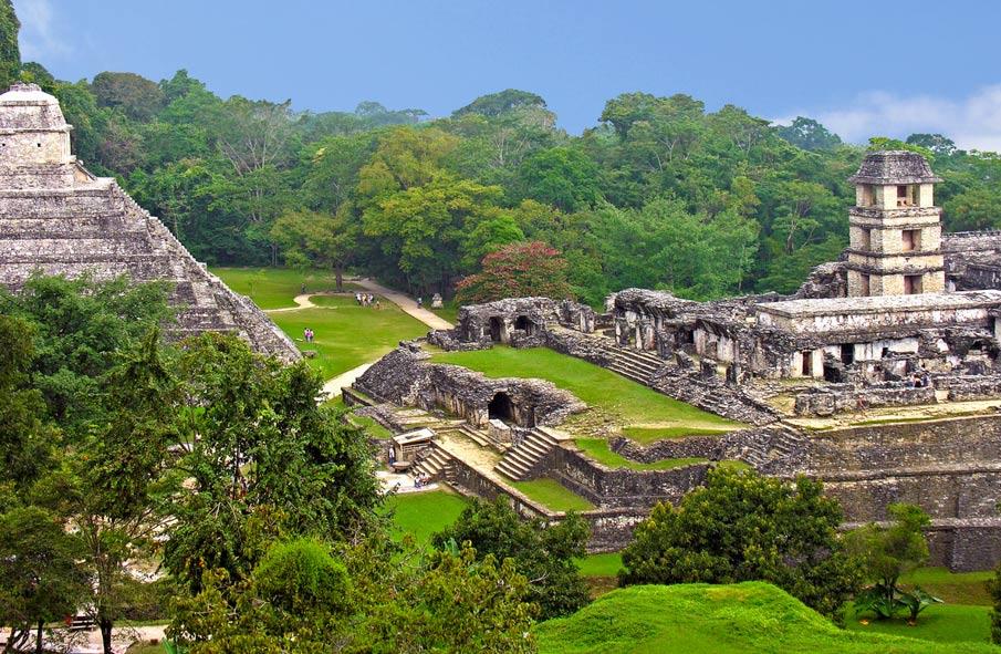 El sitio maya de Palenque, México