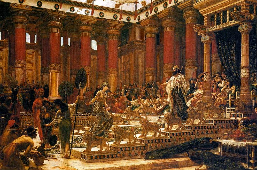 Portada - La Visita de la Reina de Saba al Rey Salomón, obra de Edward Poynter, 1890 (Wikimedia Commons).