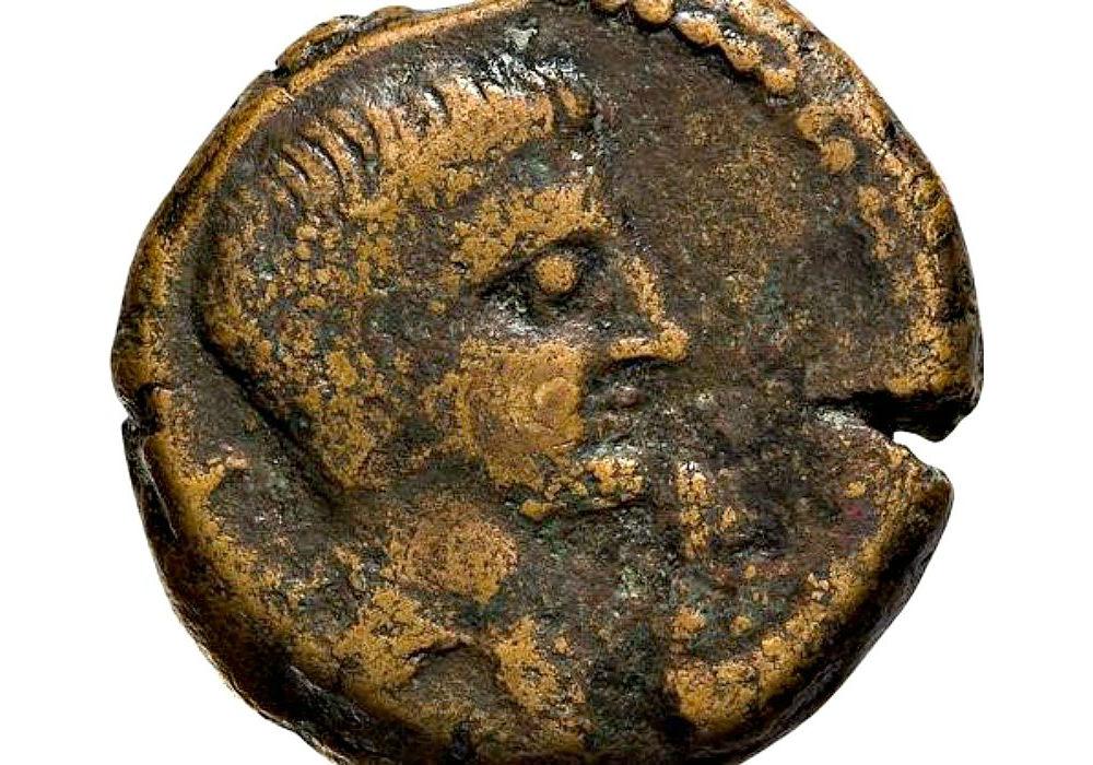 Anverso de la moneda romana descubierta. (Fotografía: ABC)