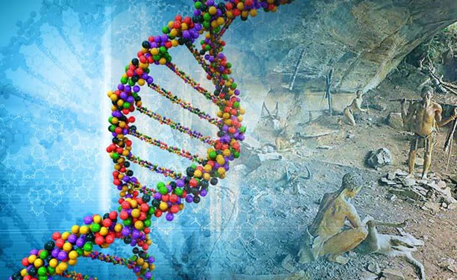 Portada - Espiral de ADN y Neandertales (Ancient-Origins)