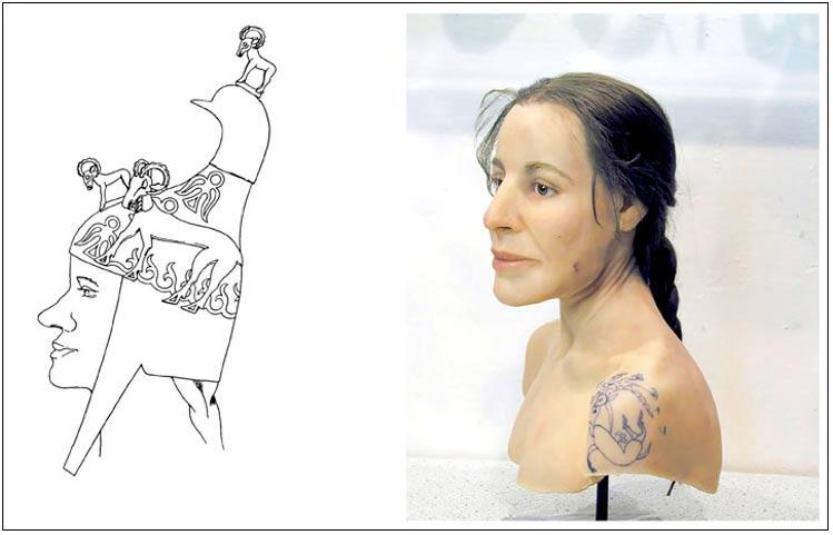 Portada-Arqueólogos y antropólogos creían no solo que se trataba de una guerrera -además de una joven con coleta- sino también que formaba parte de un cuerpo de élite de guerreras de la cultura Pazyryk. Fotografías: Marcel Nyffenegger, Natalia Polosmak.