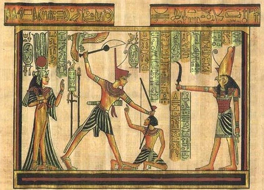 Portada- Ilustración de un castigo físico en el antiguo Egipto (akhepedia.com).