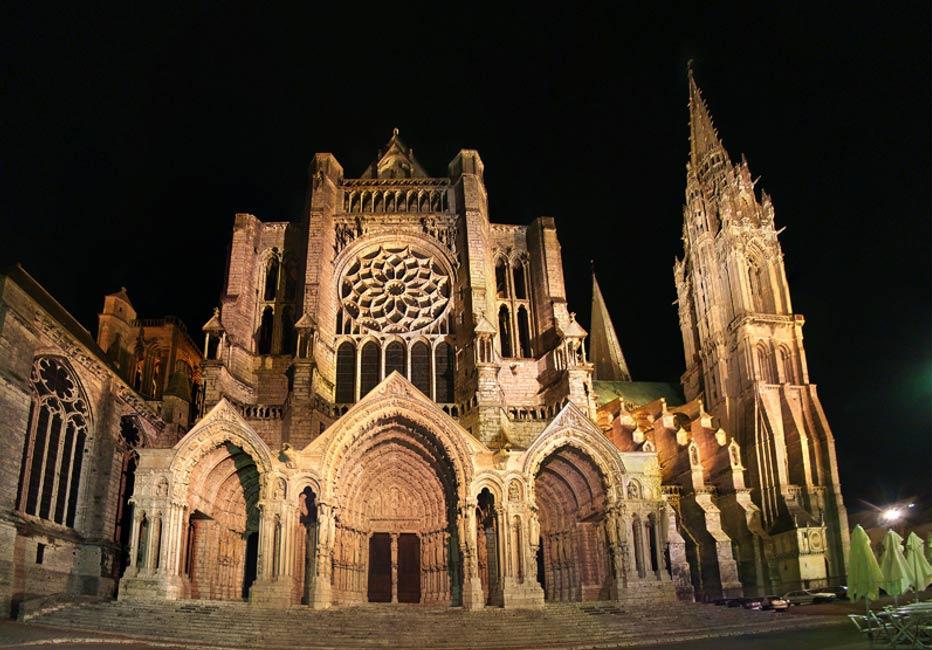 Portada-Catedral de Chartres, Eure-et-Loir, Centro, Francia. Fachada norte. (Public Domain)