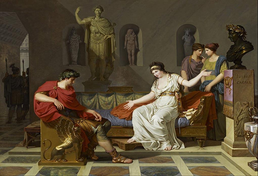 Portada-Cleopatra y Octaviano, óleo de Louis Gauffier (Public Domain)