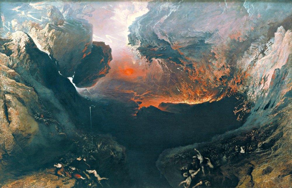 Portada- El Gran Día de la Colera Divina (1853), óleo sobre lienzo de John Martin, Tate Gallery de Londres. (Public Domain)