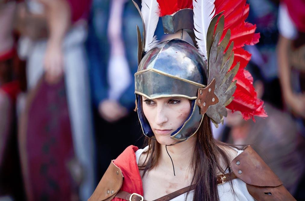 Portada-Gladiatrix moderna del festival 'Arde Lucus', celebrado a mediados del mes de junio en la ciudad española de Lugo. (Flickr/CC BY-SA 2.0)
