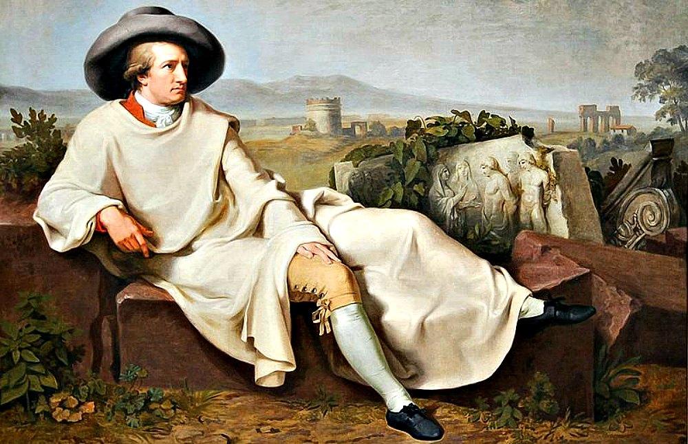 """Portada - Detalle de """"Goethe en la campiña romana"""" (1787), óleo de Johann Heinrich Wilhelm Tischbein, (1751-1829). Städel Museum, Fráncfort del Meno, Alemania. (Public Domain)"""