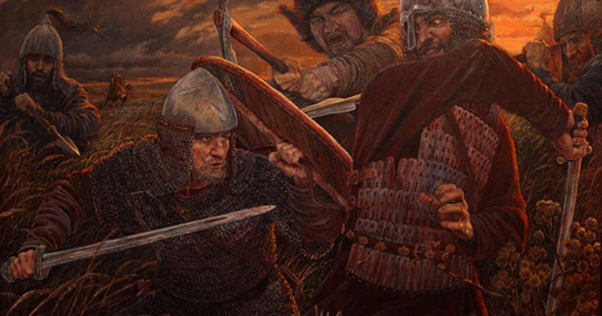 Portada - 'Invencibles', representación moderna de una batalla entre Rus y jázaros. Fuente: Vladimir-Kireev/Deviant Art