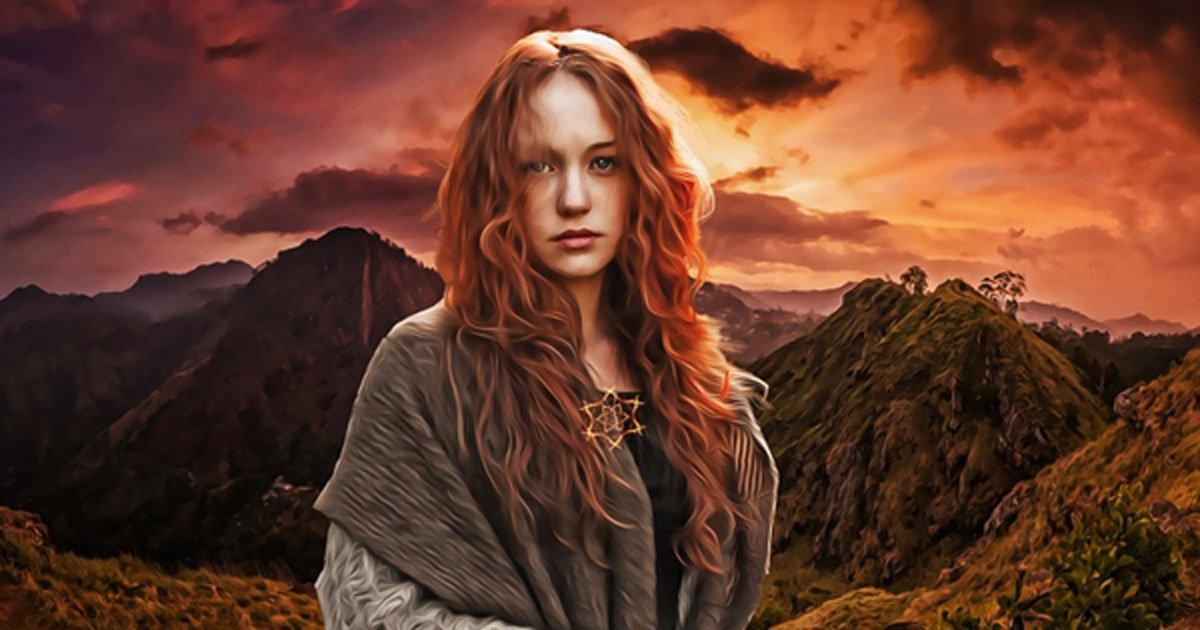 Portada - Representación de una joven pagana moderna. (Public Domain)