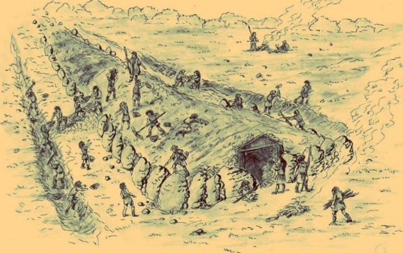 """Portada-Las """"Pirámides polacas"""" eran estructuras megalíticas que fueron construidas en la antigua Polonia excavando la tierra y amontonando rocas de gran tamaño en su parte superior. Se cree que su construcción habría requerido la participación de cientos de obreros. (Wiara Przyrodzona)"""