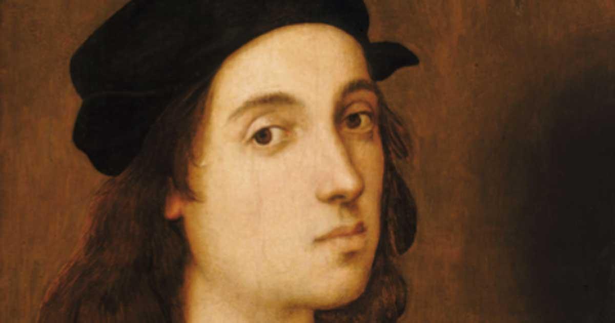 Portada - Detalle de un autorretrato de Rafael pintado cuando el artista tenía una edad aproximada de 23 años. (Dominio público)