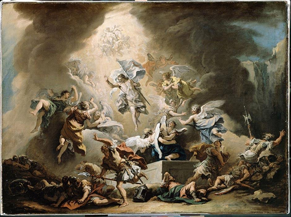 La Resurrección. (c. 1715-1716), óleo de Sebastiano Ricci (Public Domain)