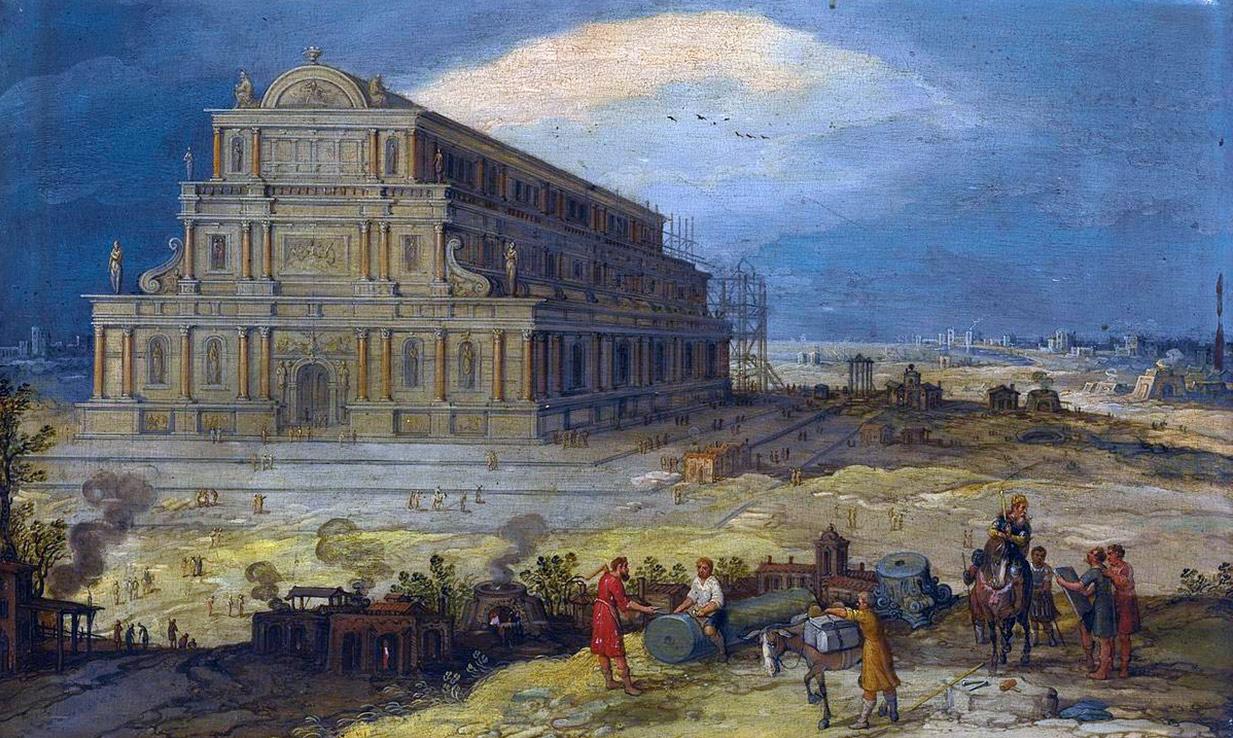 Portada-El Templo de Artemisa de Éfeso por Hendrik van Cleve III (Wikimedia Commons)