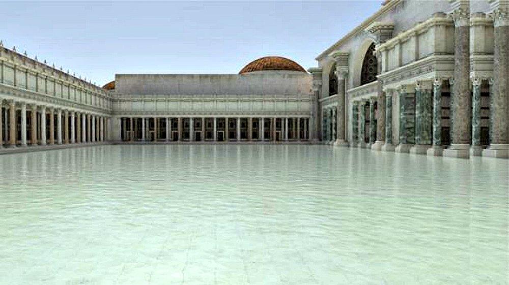 Portada - 'Natatio' de las Termas de Trajano, la piscina más grande de todo el Imperio Romano. (Fotografía: ABC)