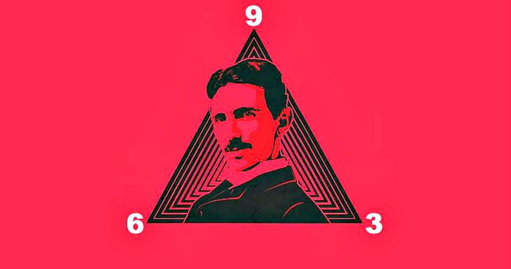 Portada - Retrato de Tesla con los números 3, 6 y 9 (Código Oculto)