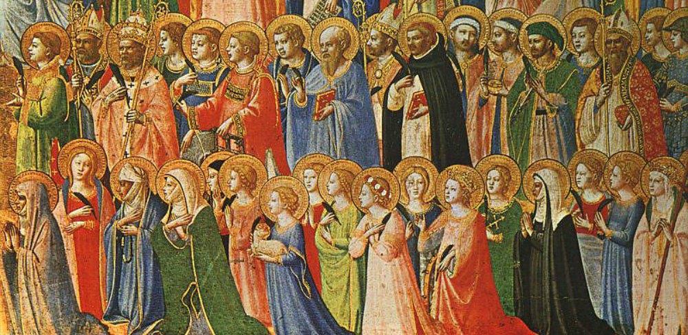 """Portada-Detalle de la obra de Fra Angelico """"Los precursores de Cristo con los santos y mártires"""" (1423-24). Témpera sobre madera. National Gallery de Londres. (Public Domain)"""
