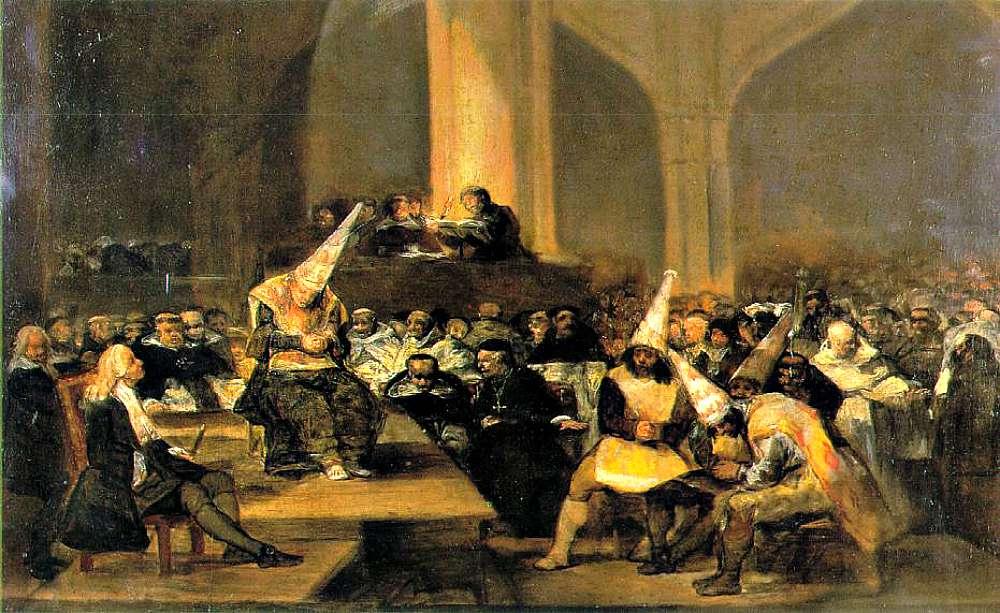 """Portada-""""El Tribunal de la Inquisición"""", obra de Francisco de Goya (1812-19). (Wikimedia Commons)"""