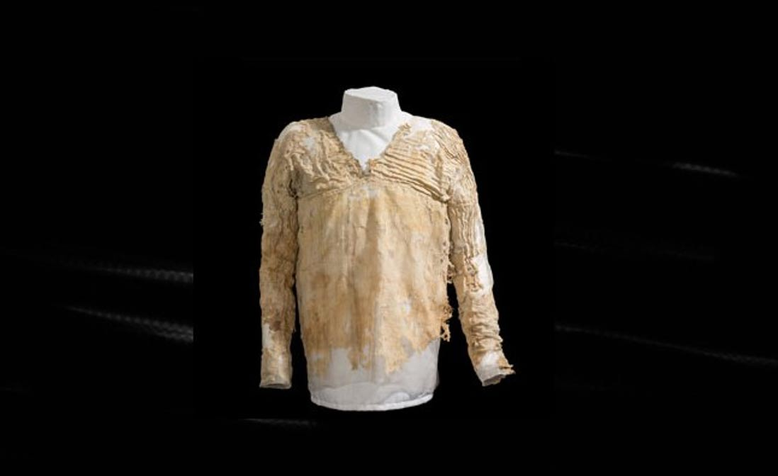 Portada-Vestido Tarkhan. Origen: Museo Petrie de Arqueología Egipcia - UCL