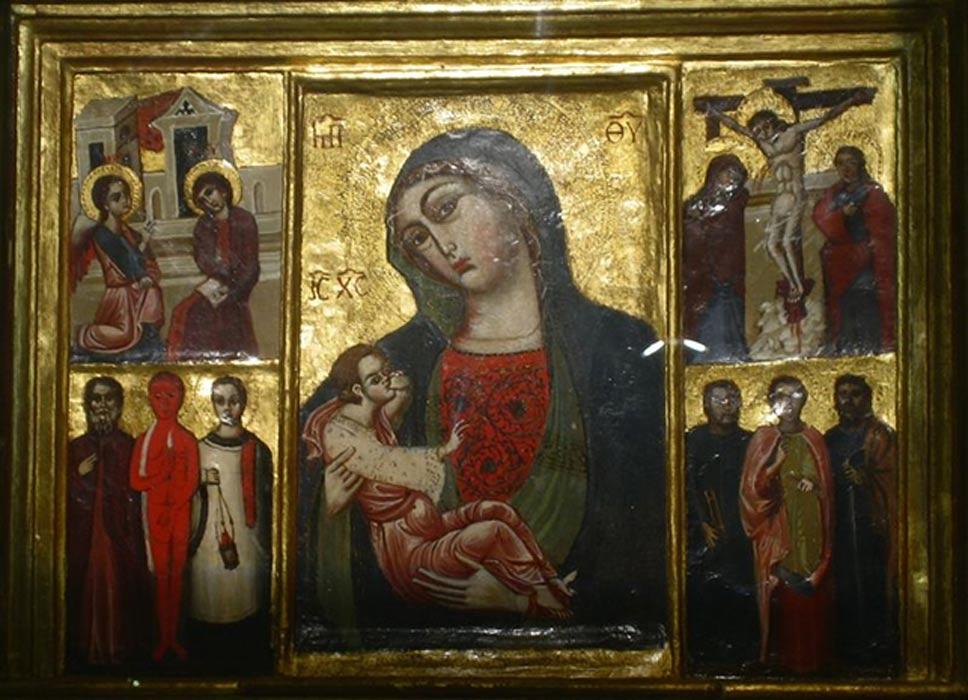 """Portada - Icono de """"Nuestra Señora, Madre de la Gracia"""", Trsat, Croacia (probablemente siglo XII) (Public Domain)"""