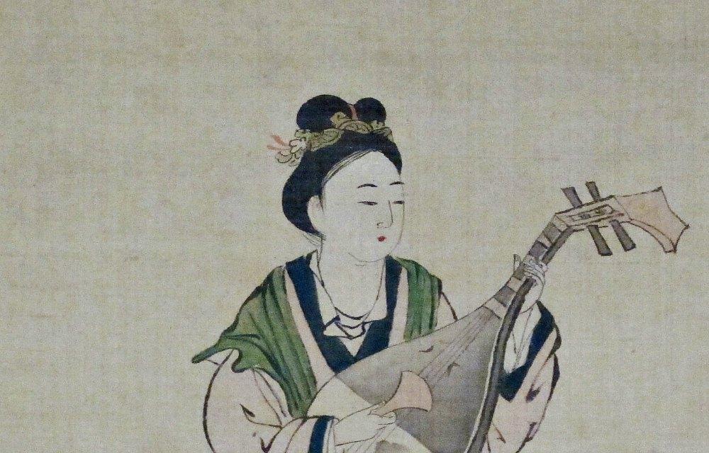 Portada-Detalle de una representación de Wang Zhaojun correspondiente al Período Edo. (Siglo XVII). (Sailko/CC BY-SA 3.0)