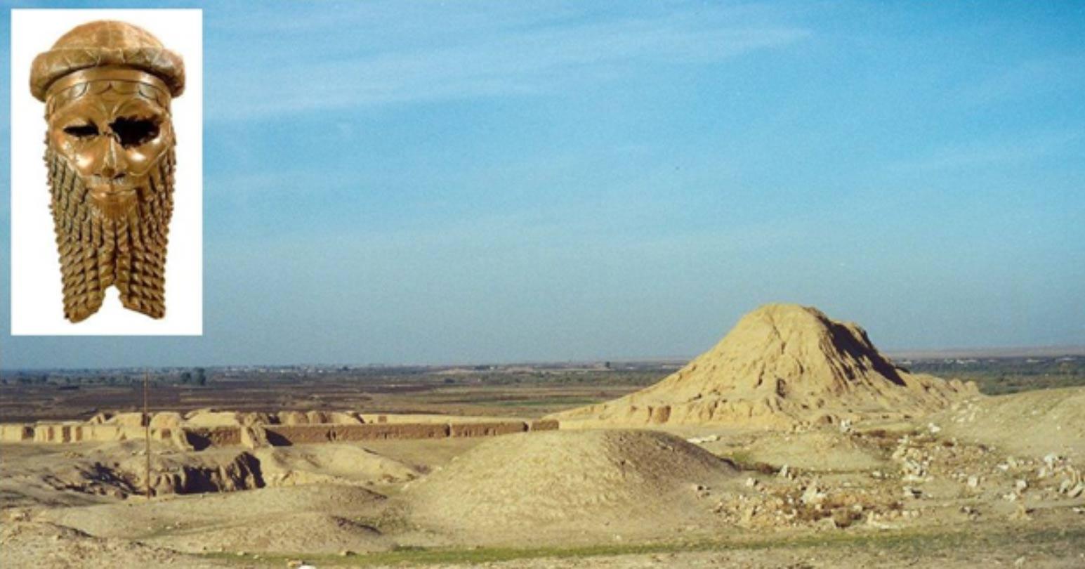 Portada - Fotografía de Asur. Inserción: Cabeza que representa muy probablemente a Sargón de Acad. (CC BY 2.0). Fuente: Wikimedia.
