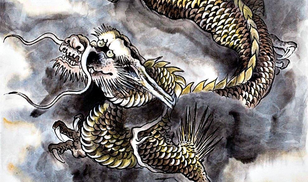 Portada - Ilustración de un típico dragón chino con un cuerpo similar al de una serpiente y lleno de escamas. (La Gran Época)